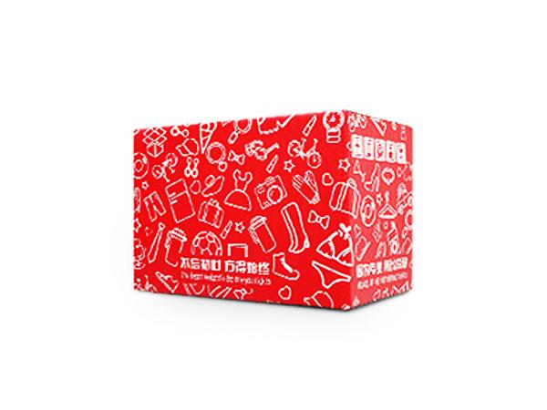 红色电商纸箱